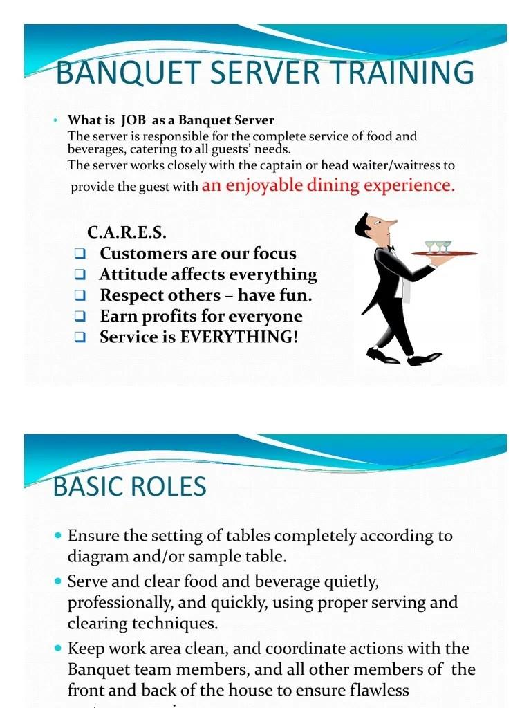 medium resolution of catering setting diagram