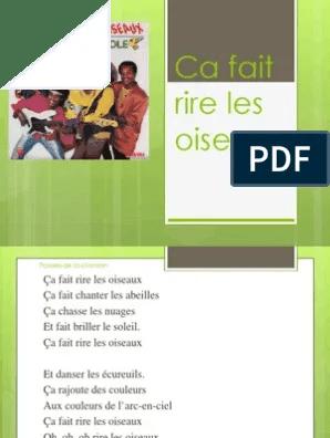 Paroles Ca Fait Rire Les Oiseaux - La Compagnie Créole