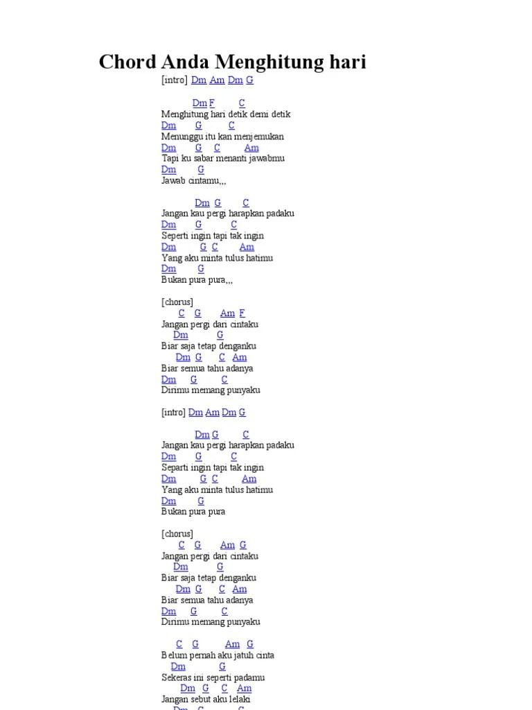 Lirik Lagu Menghitung Hari 2 : lirik, menghitung, Chord, Menghitung