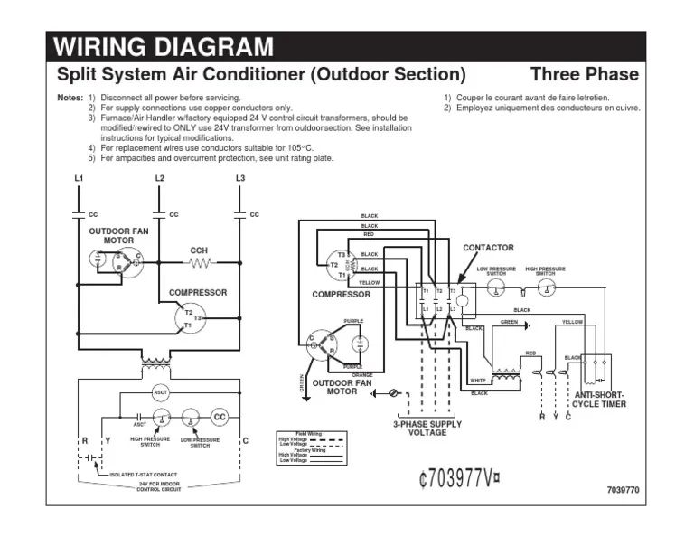split a c wiring diagram