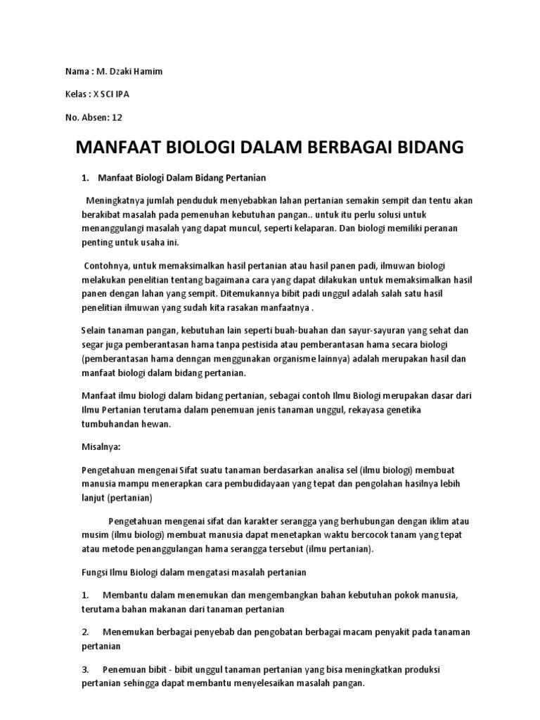 Peranan Biologi Dalam Berbagai Bidang : peranan, biologi, dalam, berbagai, bidang, Contoh, Kimia, Dalam, Bidang, Pertanian, Adalah, Penemuan, Temukan