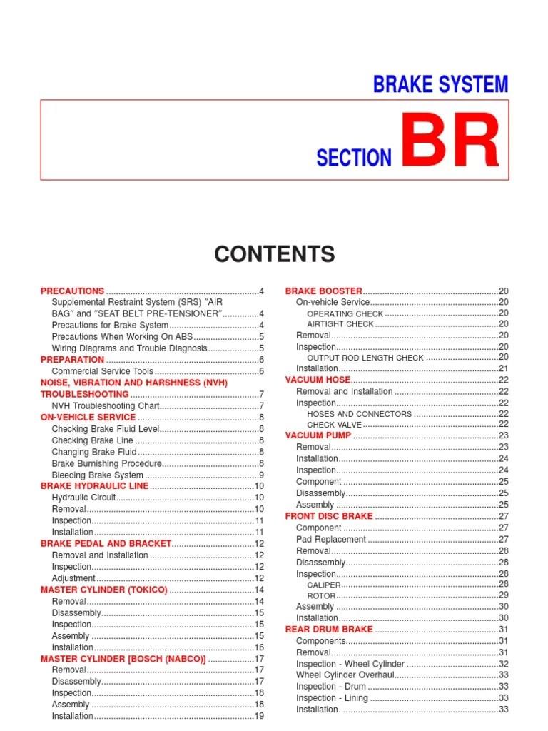 small resolution of nissan sentra n16 brake service manual brake airbagnissan n16 wiring diagram pdf 18