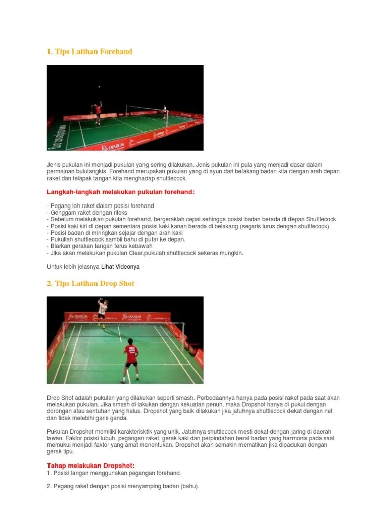 Dropshot Bulutangkis : dropshot, bulutangkis, Teknik, Pukulan, Badminton, Ywtb.saovotinc.site