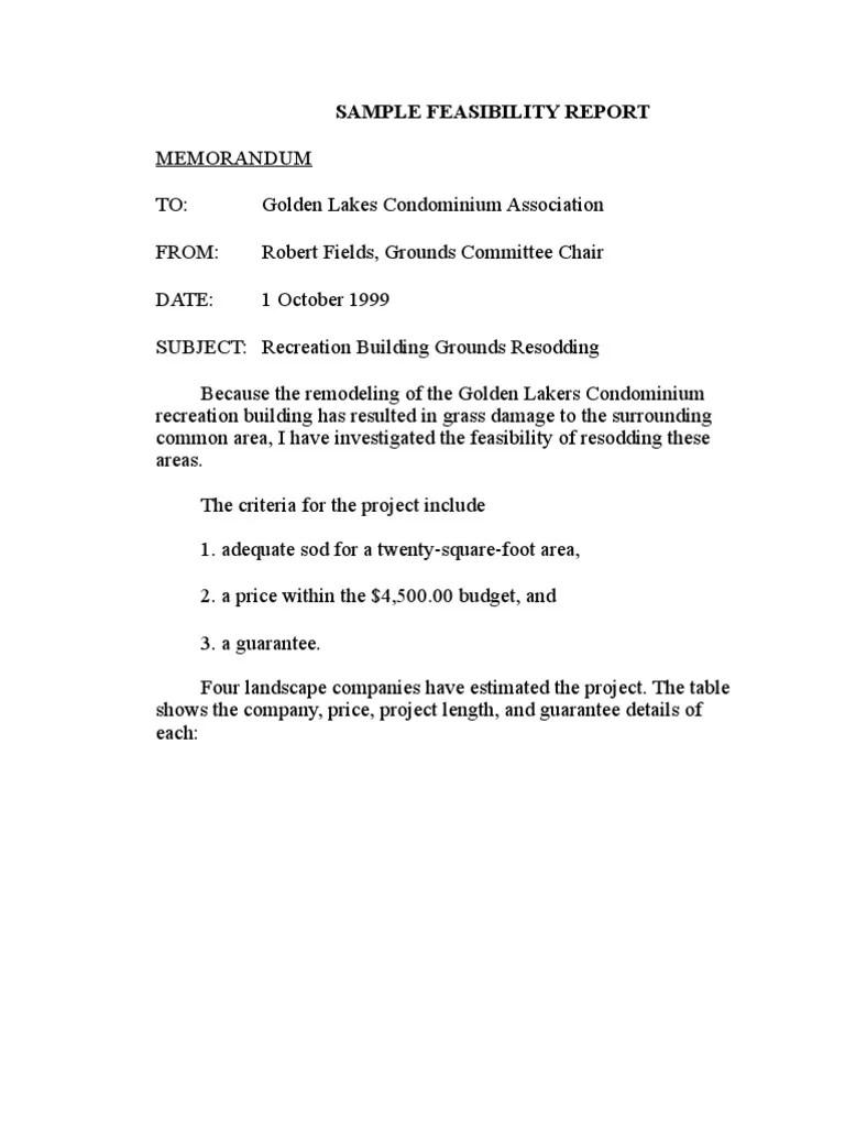 Memorandum Report Sample. 1534794334V1