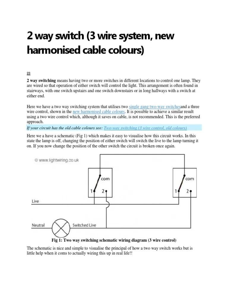 medium resolution of 2 way switch 2 way switch wiring diagram fig 1 two