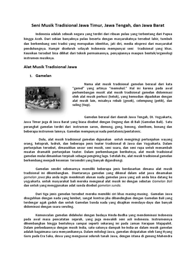 Teater Tradisional Jawa Tengah : teater, tradisional, tengah, Musik, Tradisional, Timur
