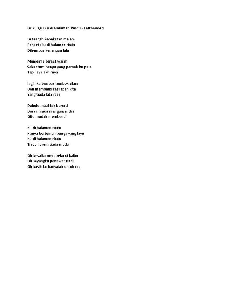 Lirik Lagu Mengusung Rindu : lirik, mengusung, rindu, Lirik, Memori, Berkasih, Kunci, Kentrung