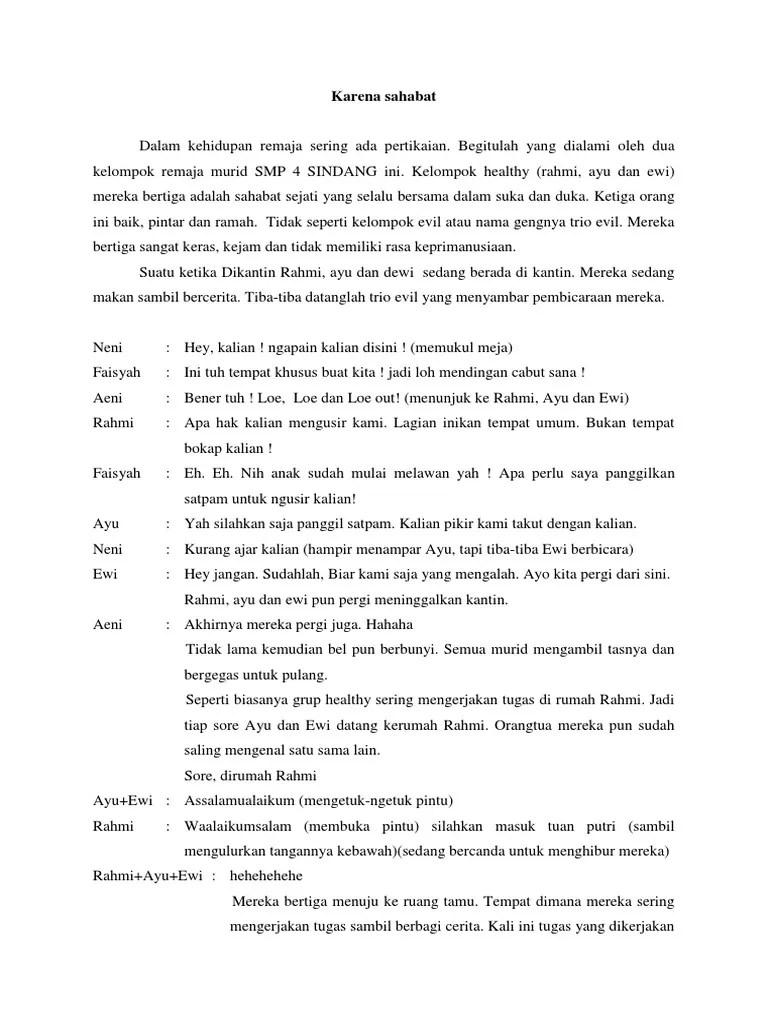 Teks Drama 6 Orang : drama, orang, Contoh, Naskah, Drama, Pendek, Orang