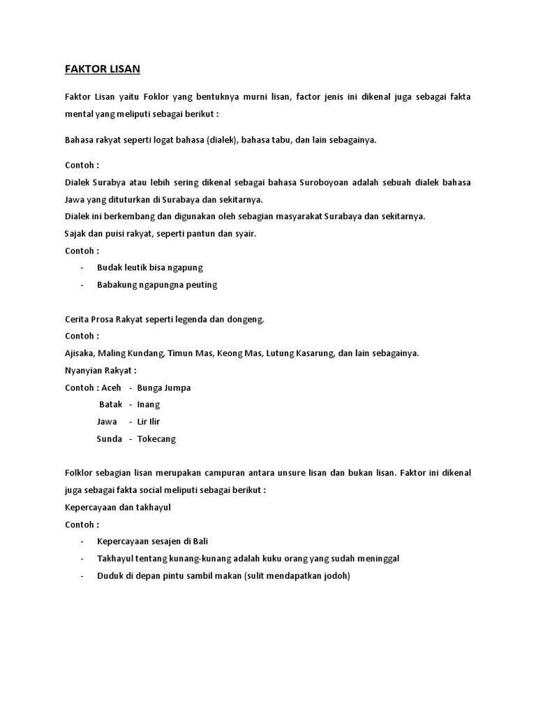 Contoh Folklor Lisan Bahasa Rakyat : contoh, folklor, lisan, bahasa, rakyat, FAKTOR, LISAN, Teori, Budaya