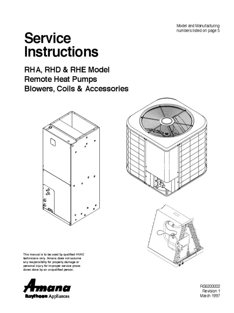 Amana HVAC AC Manual