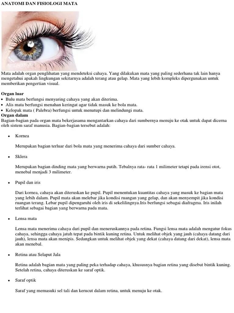 Fungsi Lensa Pada Mata : fungsi, lensa, Anatomi, Fisiologi