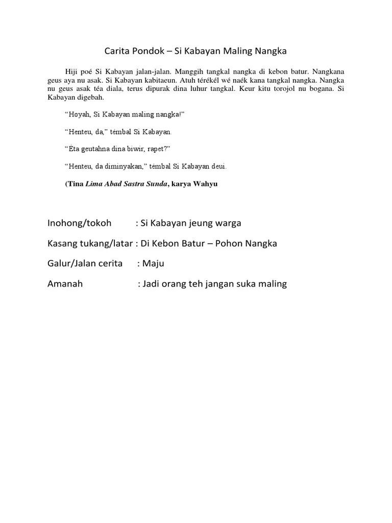 Carita Pondok Bahasa Sunda : carita, pondok, bahasa, sunda, Carita, Pondok, Kabayan