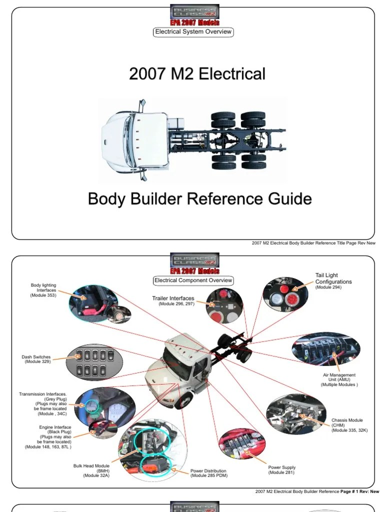 hight resolution of m2 2007 electrical body builder manual rev new automatic transmission electrical connector