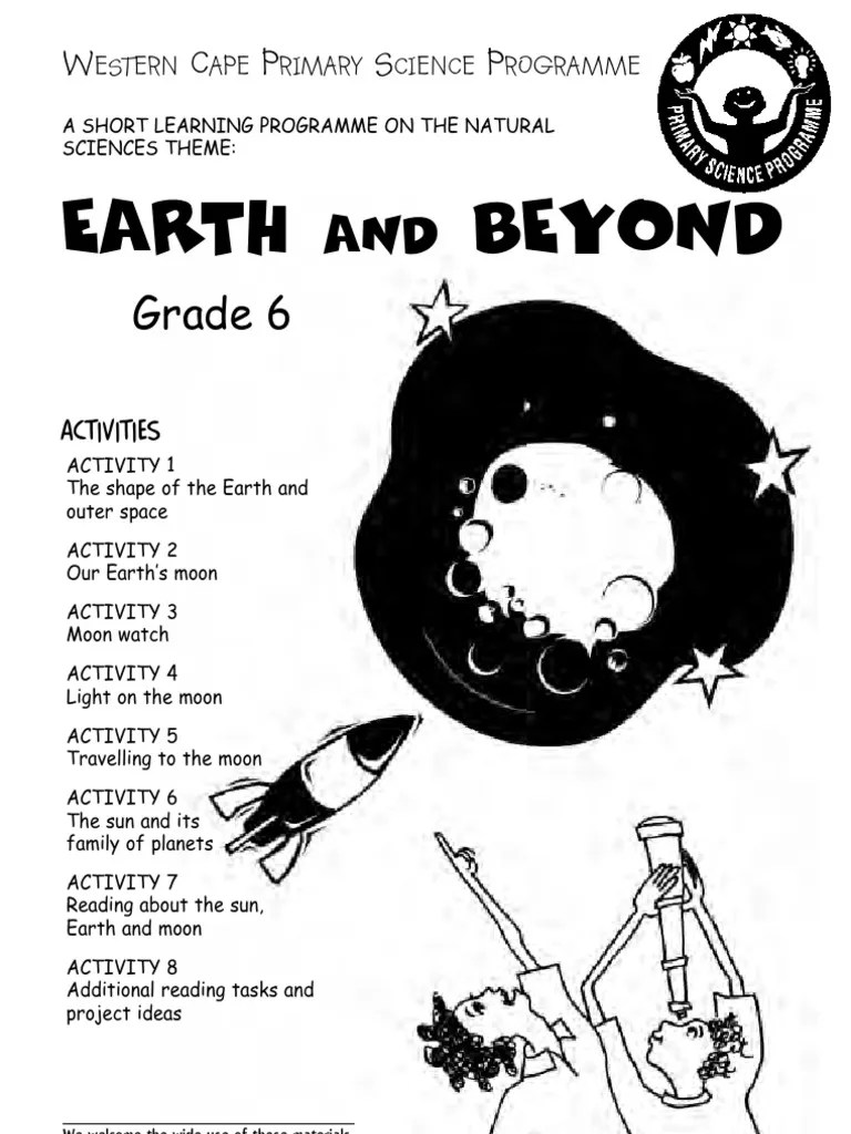 hight resolution of Earth and Beyond Grade 6 English   Natural Satellite   Planets