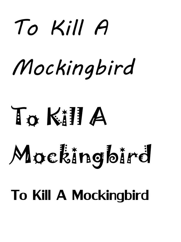 To Kill a Mockingbird Font