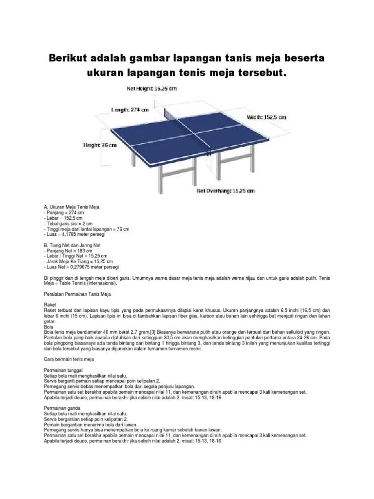 Lapang Tenis Meja : lapang, tenis, Ukuran, Lapangan, Tenis, Galeri