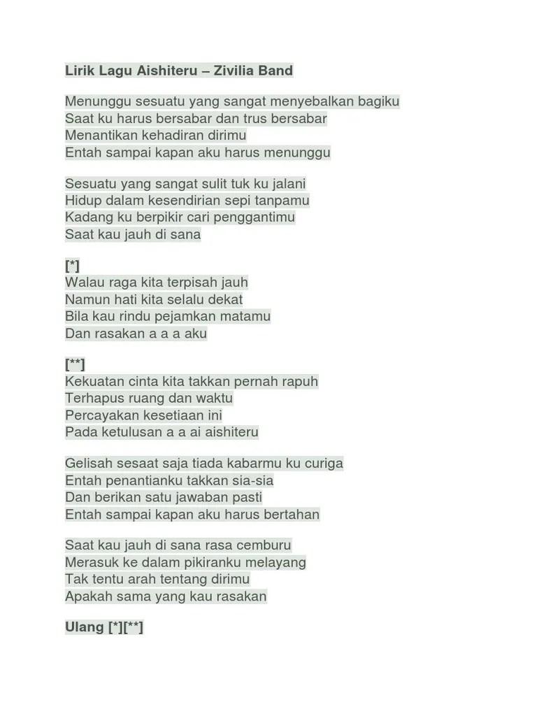 Lirik Lagu Aishiteru 3 : lirik, aishiteru, Lirik, Aishiteru
