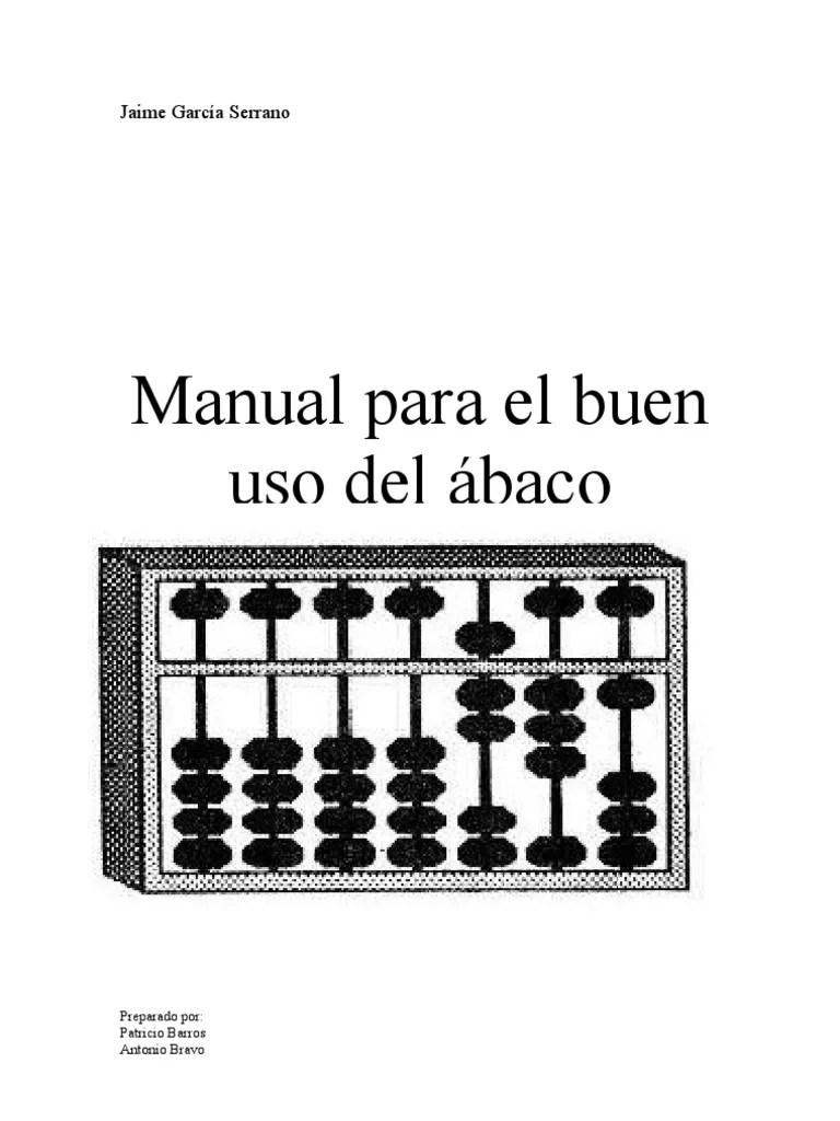 manual para el buen uso del ábaco