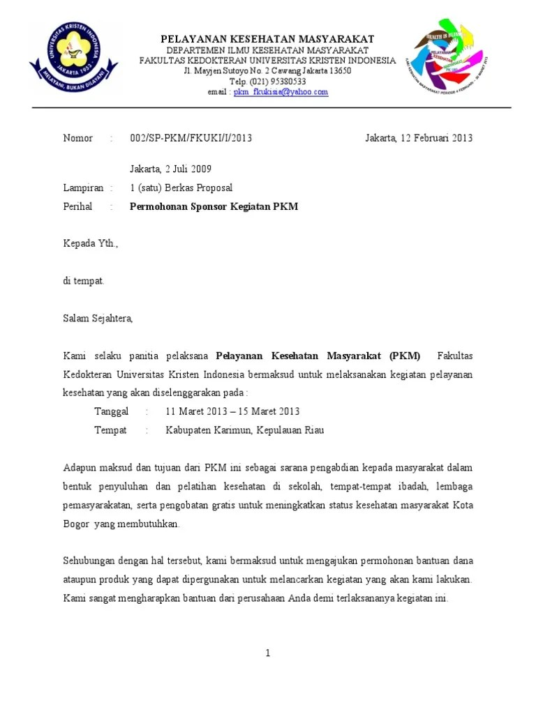 Surat Permohonan Sponsorship - Scribd