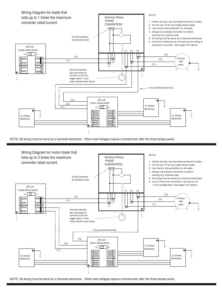 american rotary phase wiring diagram wiring library diagram z2wiring diagrams for rotary phase convertor electrical wiring [ 768 x 1024 Pixel ]