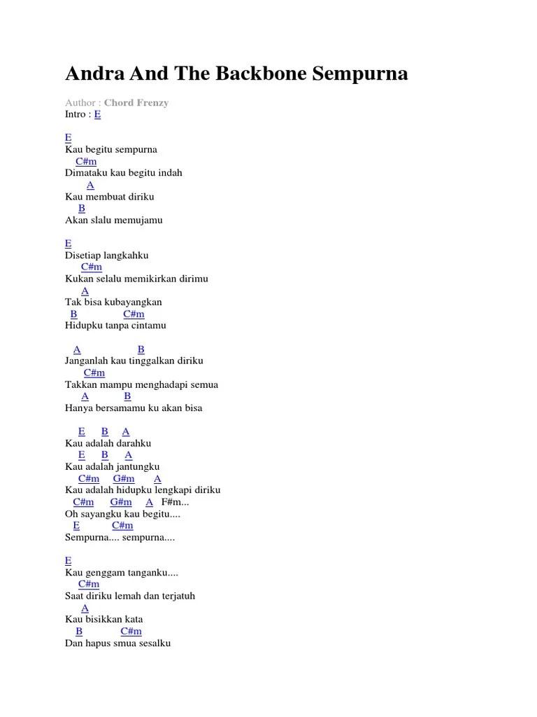 Andra And The Backbone Sempurna Chord : andra, backbone, sempurna, chord, Andra, Backbone, Sempurna