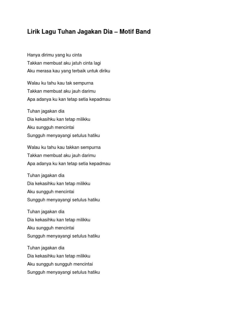 Lirik Lagu Tuhan Jagakan Dia : lirik, tuhan, jagakan, Lirik, Tuhan, Jagakan