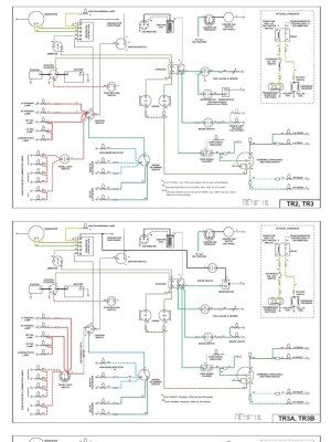 Wiring Diagrams for TR2, TR3, TR4 and TR4a