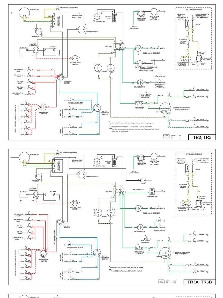 medium resolution of wiring diagrams for tr2 tr3 tr4 and tr4a rear wheel drive triumph tr3a wiring diagram triumph tr3a wiring diagram