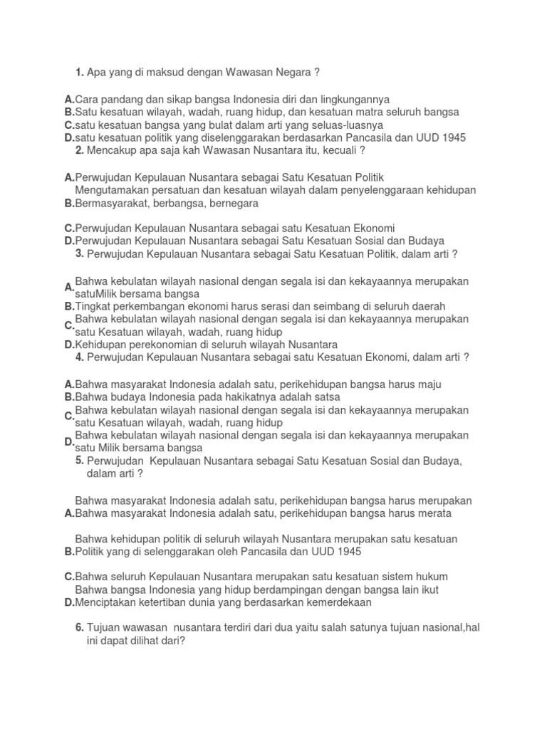 Perwujudan Kepulauan Nusantara Sebagai Satu Kesatuan Sosial Budaya : perwujudan, kepulauan, nusantara, sebagai, kesatuan, sosial, budaya, Wawasan