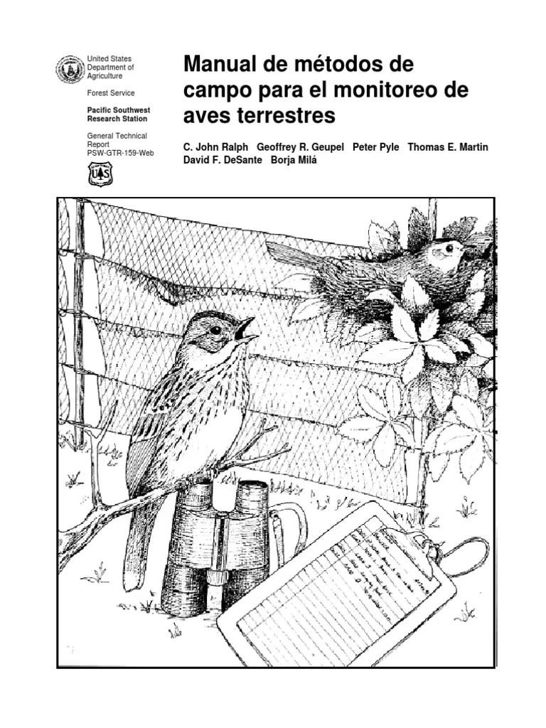 manual de métodos de campo para el monitoreode aves terrestres