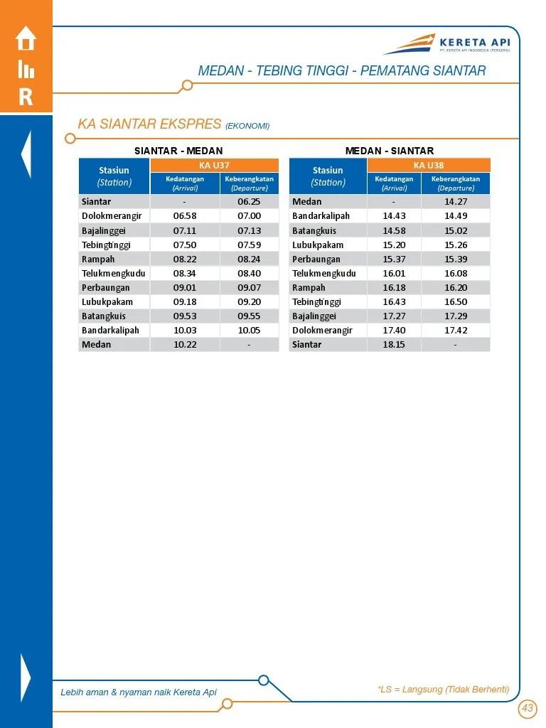 Jadwal Kereta Api Medan Kisaran : jadwal, kereta, medan, kisaran, EBook, Jadwal, Perjalanan, KAI_2
