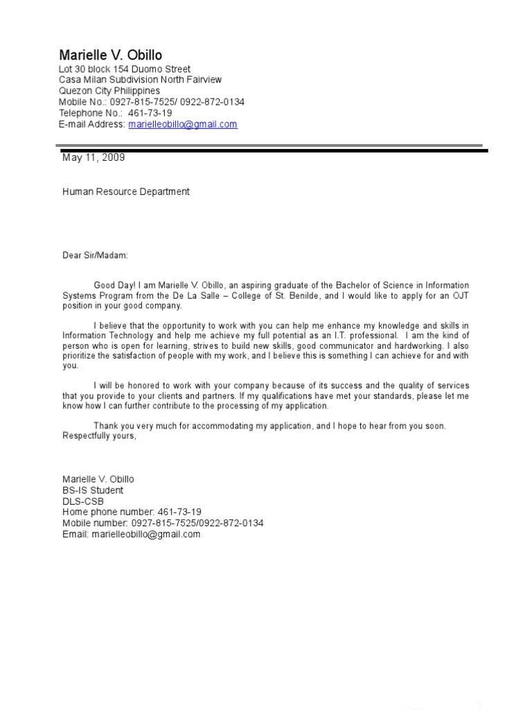Cover Letter For Applications Cover Letter And Resume Microsoft Visual Studio Computing