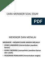 Cara Menskor Soal Essay : menskor, essay, Menskor, Essay