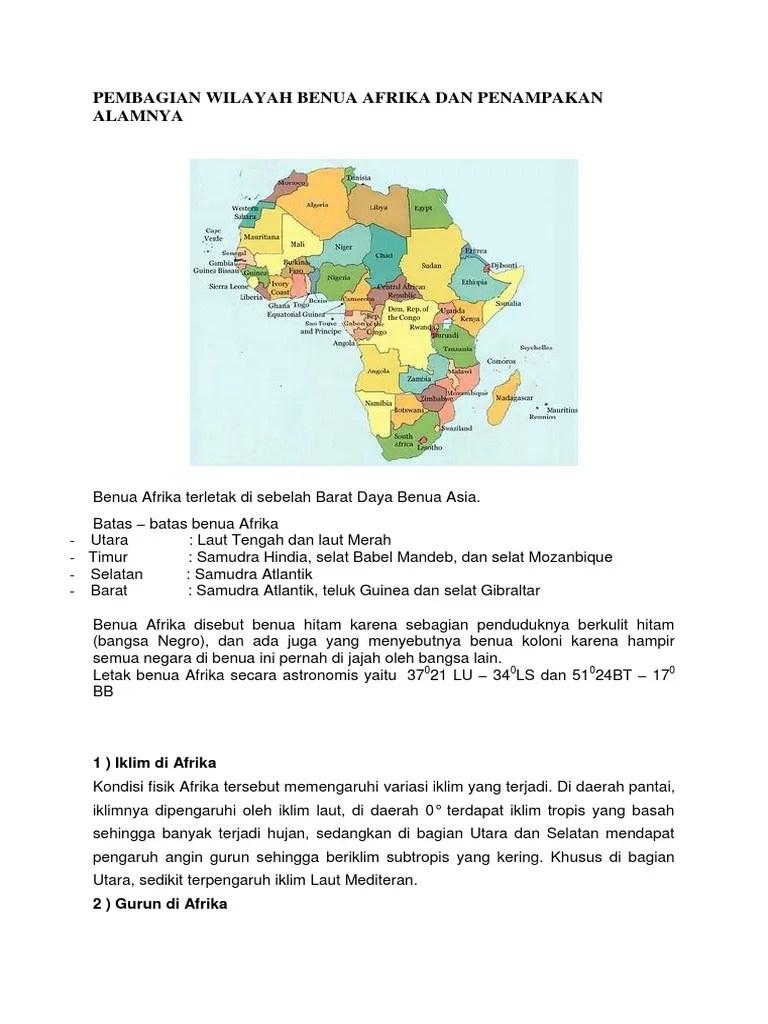 Yang Disebut Benua Hitam Adalah : disebut, benua, hitam, adalah, Pembagian, Wilayah, Benua, Afrika, Penampakan, Alamnya