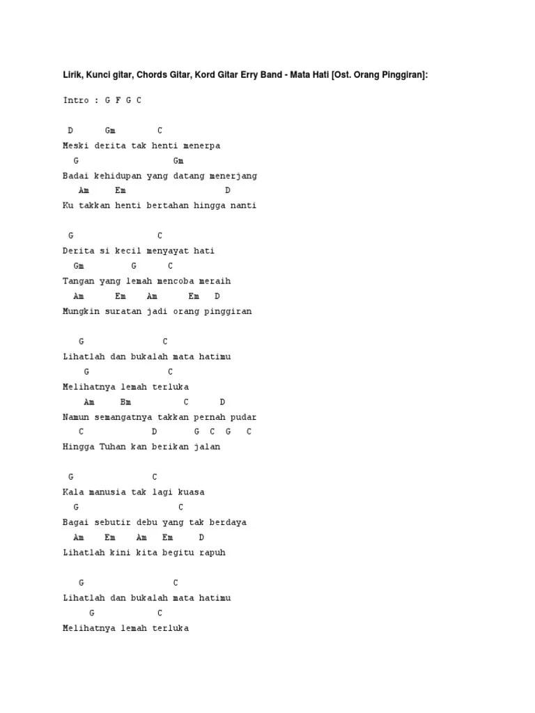 Chord Orang Pinggiran : chord, orang, pinggiran, Lirik