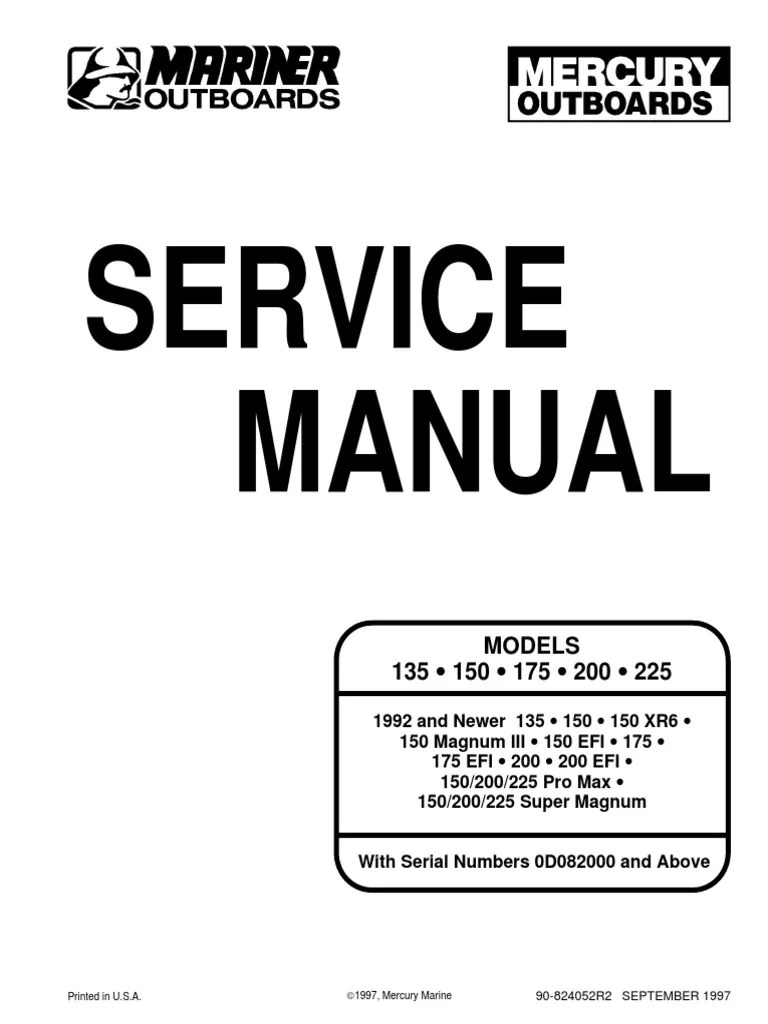 Mercury Verado 150 Service Manual