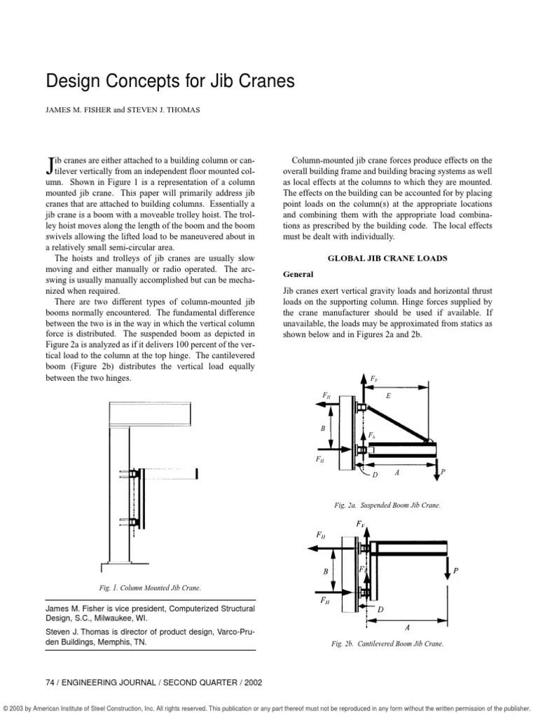 hight resolution of jib crane diagram