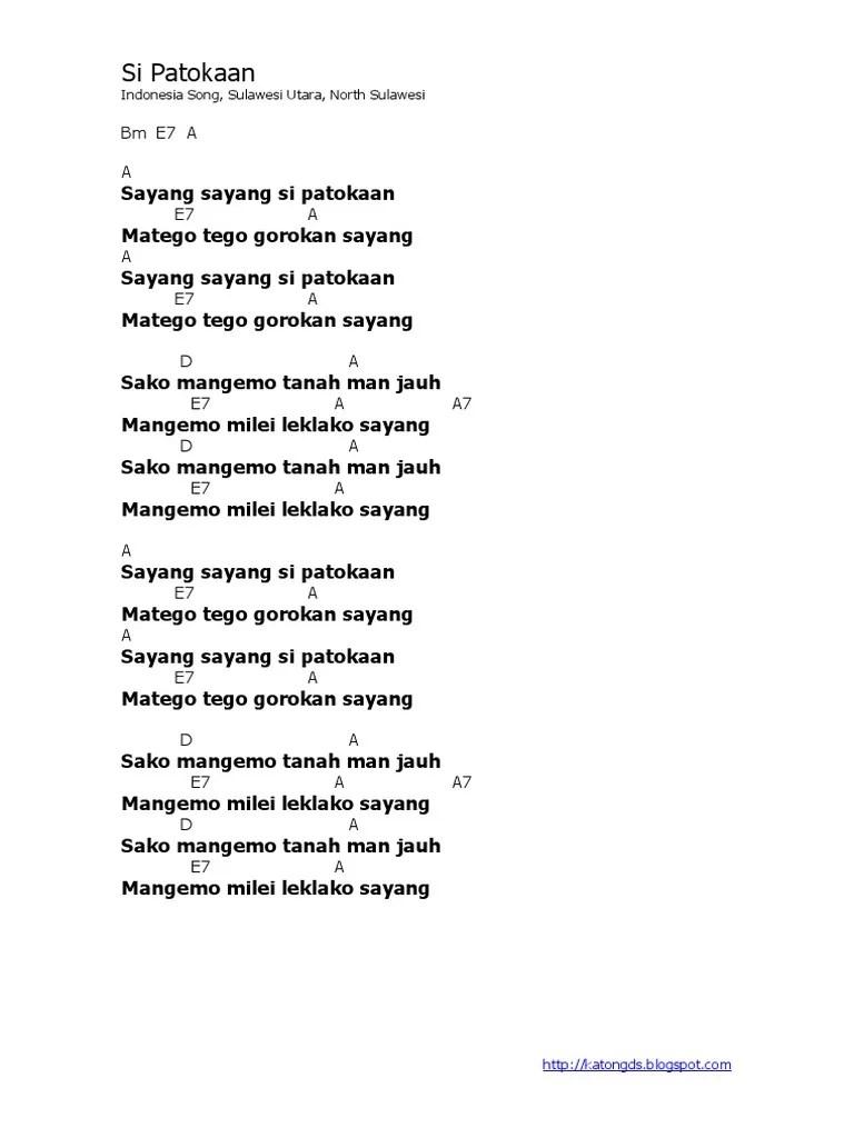 Lirik Lagu Si Patokaan : lirik, patokaan, Lyric, Chord, Patokaan, Indonesia