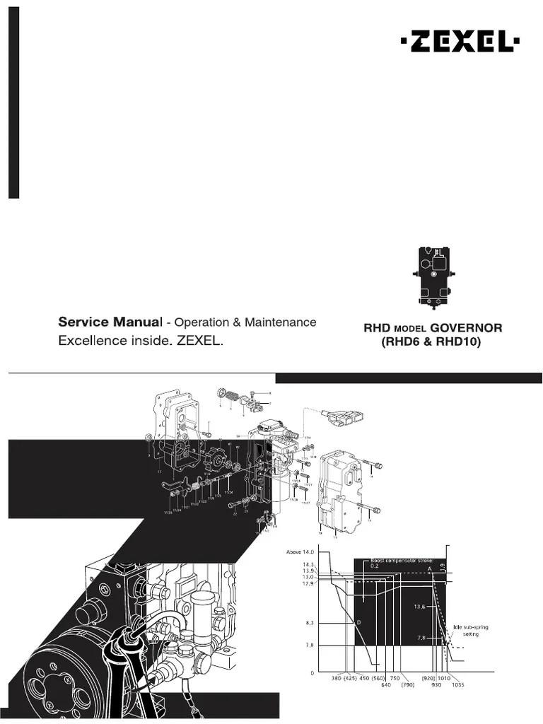 Zexel Rhd6 & Rhd10 Service Manual Governor