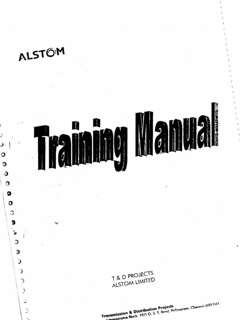 Alstom Training Manual