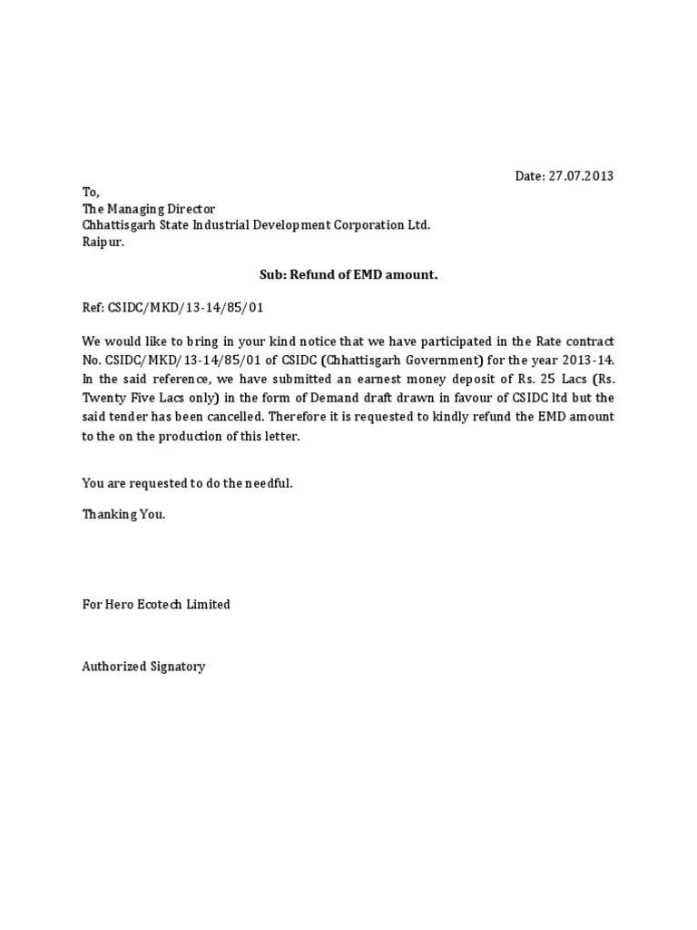 Texas Earnest Letter Demand Money
