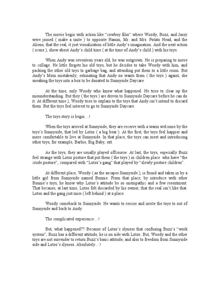 Bahasa Inggrisnya Om : bahasa, inggrisnya, Tugas, Inggris, Story, Pixar