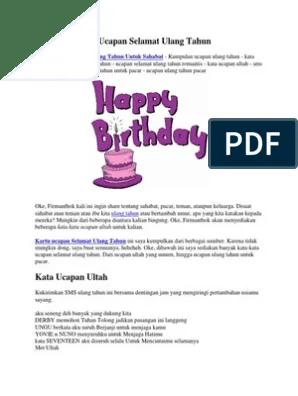 Ucapan Selamat Ulang Tahun Untuk Mantan : ucapan, selamat, ulang, tahun, untuk, mantan, Kumpulan, Ucapan, Selamat, Ulang, Tahun