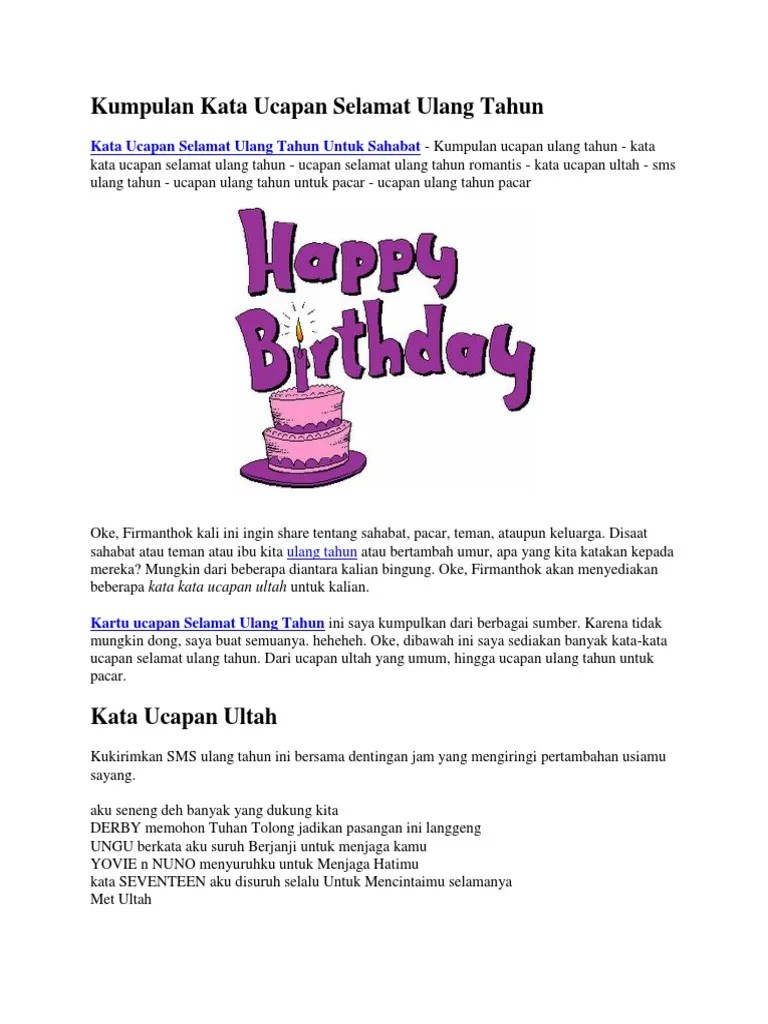 Surat Ucapan Ulang Tahun : surat, ucapan, ulang, tahun, Kumpulan, Ucapan, Selamat, Ulang, Tahun