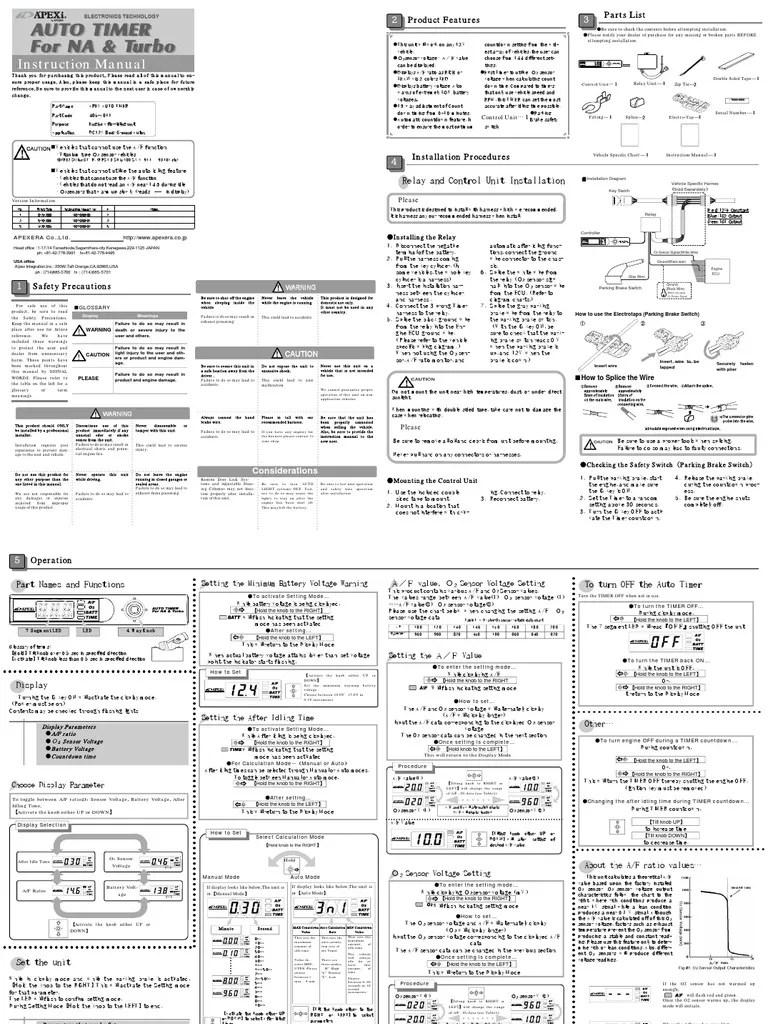 Apexi Turbo Timer Wiring Diagram : 32 Wiring Diagram