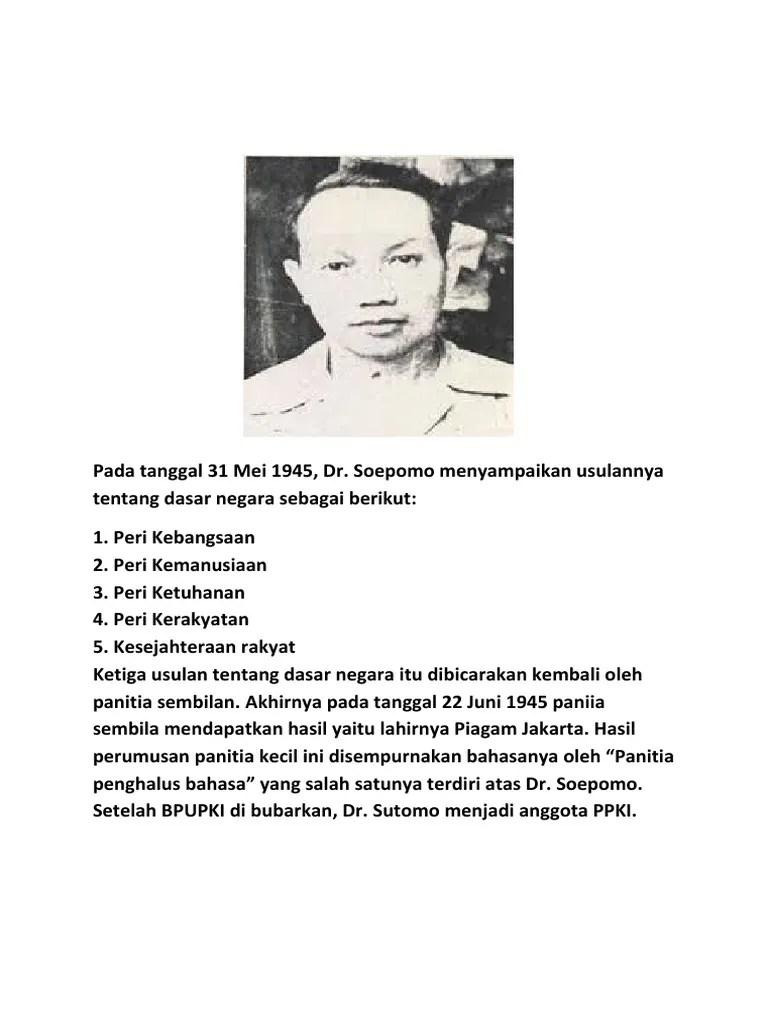 Usulan Dasar Negara Soekarno : usulan, dasar, negara, soekarno, Tanggal, 1945,, Soepomo, Menyampaikan, Usulannya, Tentang, Dasar, Negara, Sebagai, Berikut