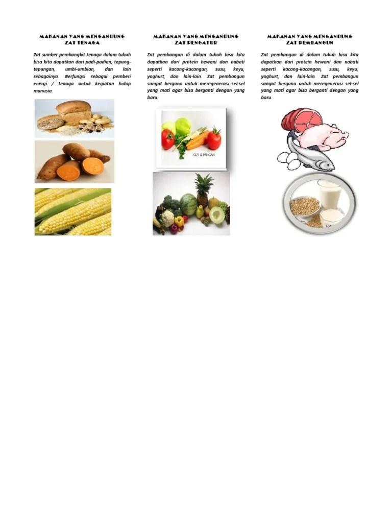 Makanan Yang Mengandung Zat Tenaga : makanan, mengandung, tenaga, Makanan, Mengandung, Tenaga, Pengatur, Pembangun
