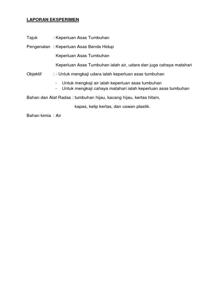 Laporan Kacang Hijau : laporan, kacang, hijau, LAPORAN, EKSPERIMEN