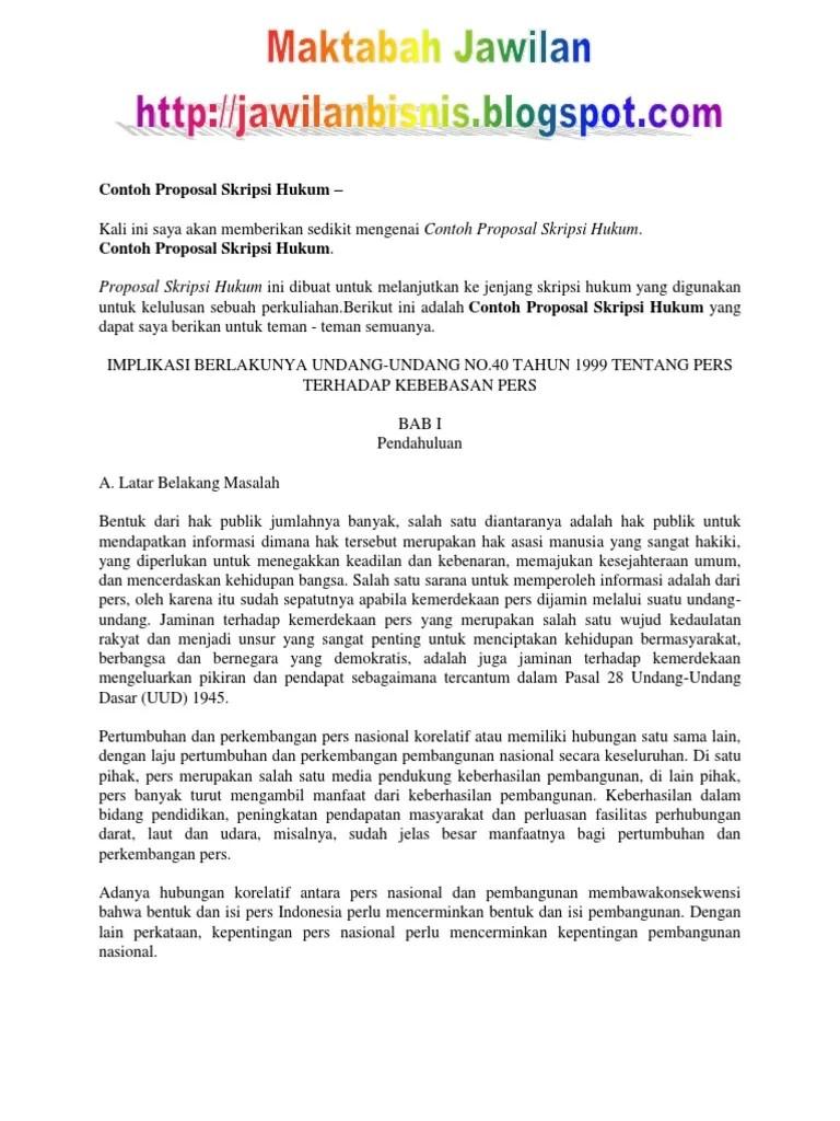 Contoh Judul Skripsi Hukum Tata Negara Islam Kumpulan Cute766