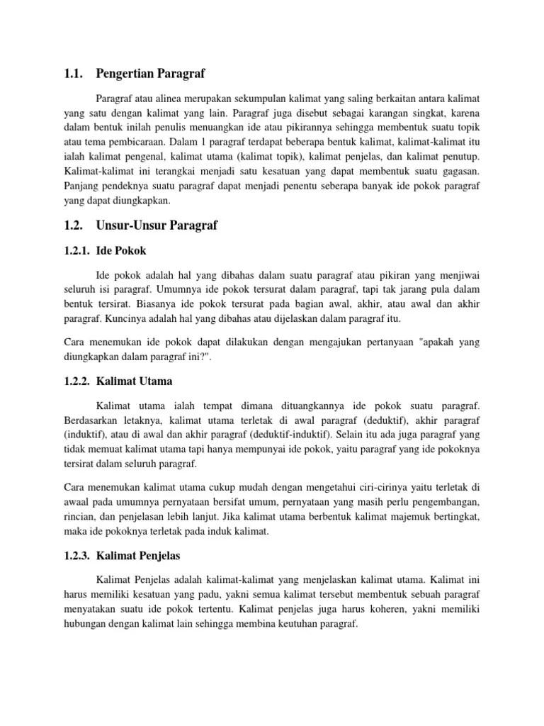Paragraf Yang Ide Pokoknya Terletak Diawal Paragraf Disebut : paragraf, pokoknya, terletak, diawal, disebut, Bahasa, Indonesia, Print